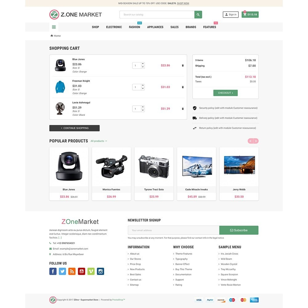theme - Electronique & High Tech - ZOne - Supermarket Online Shop - 7