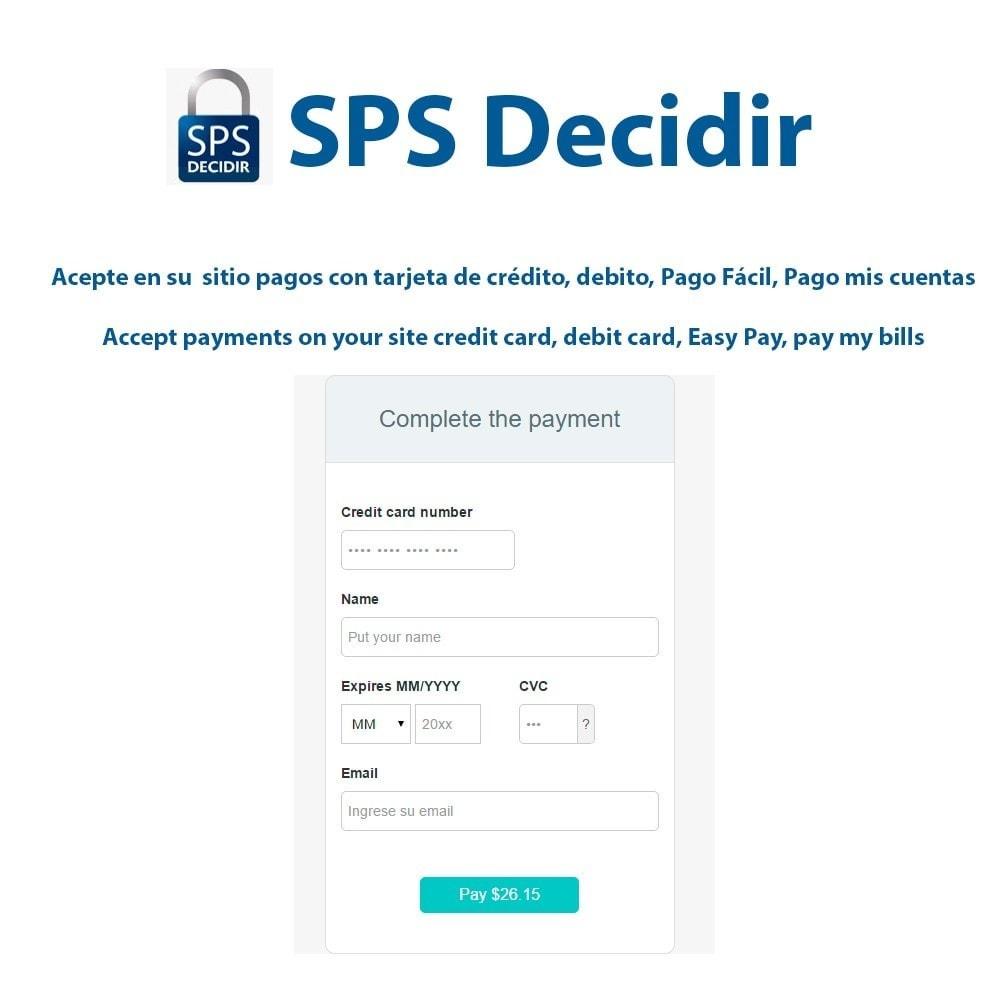 module - Pagamento con Carta di Credito o Wallet - Decidir SPS payment gateway - 1