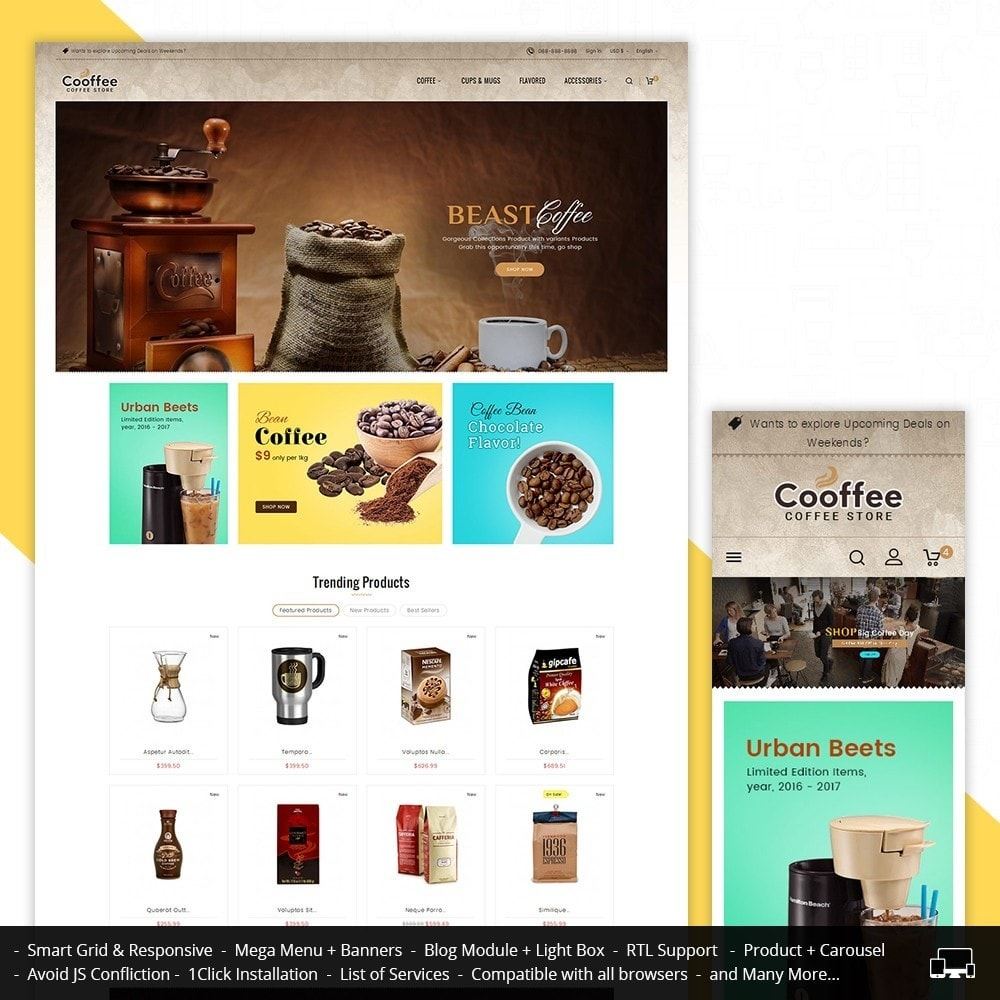 theme - Drink & Wine - Cold Coffee Store - 1