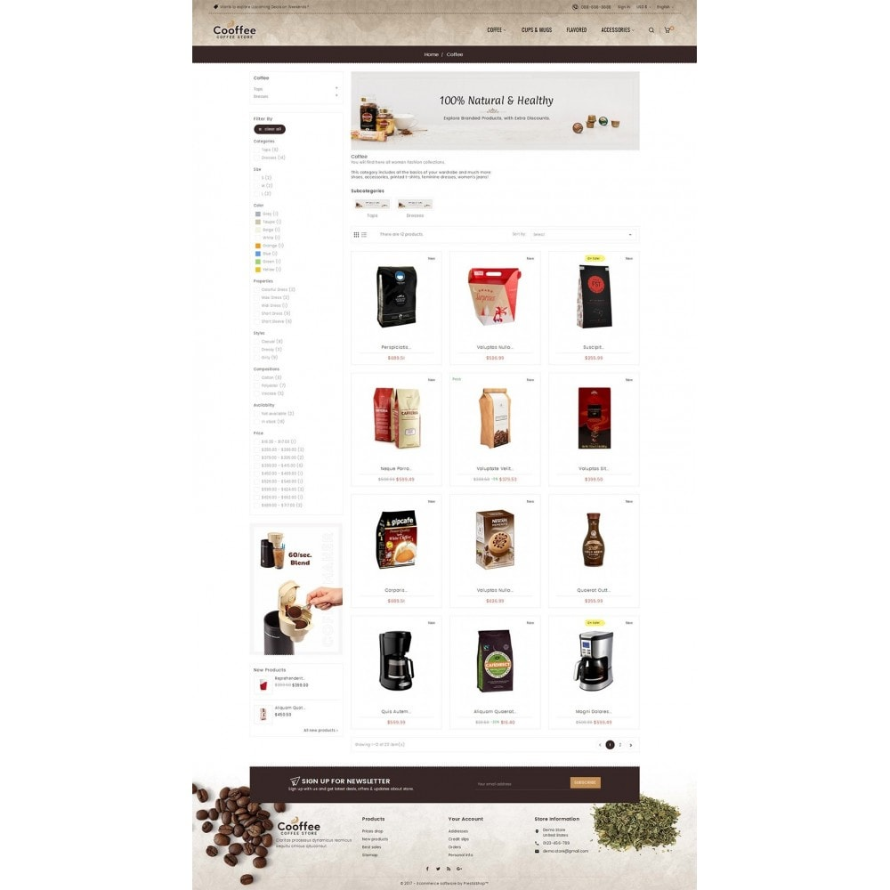 theme - Bebidas & Tabaco - Cold Coffee Store - 3