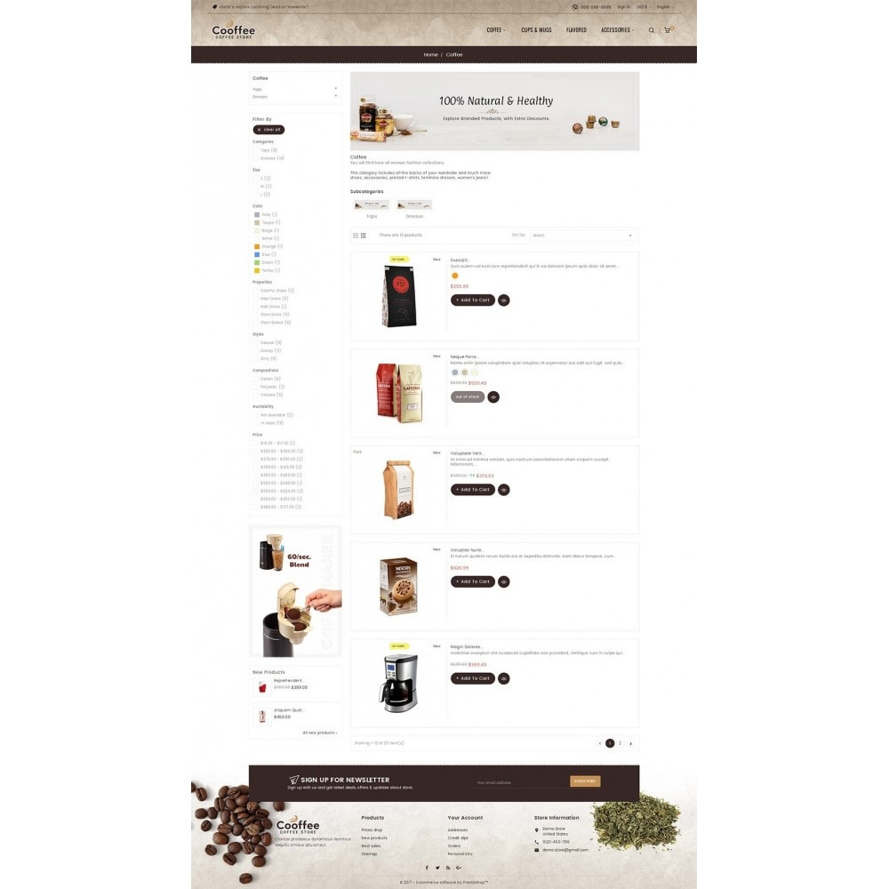 theme - Bebidas y Tabaco - Cold Coffee Store - 4