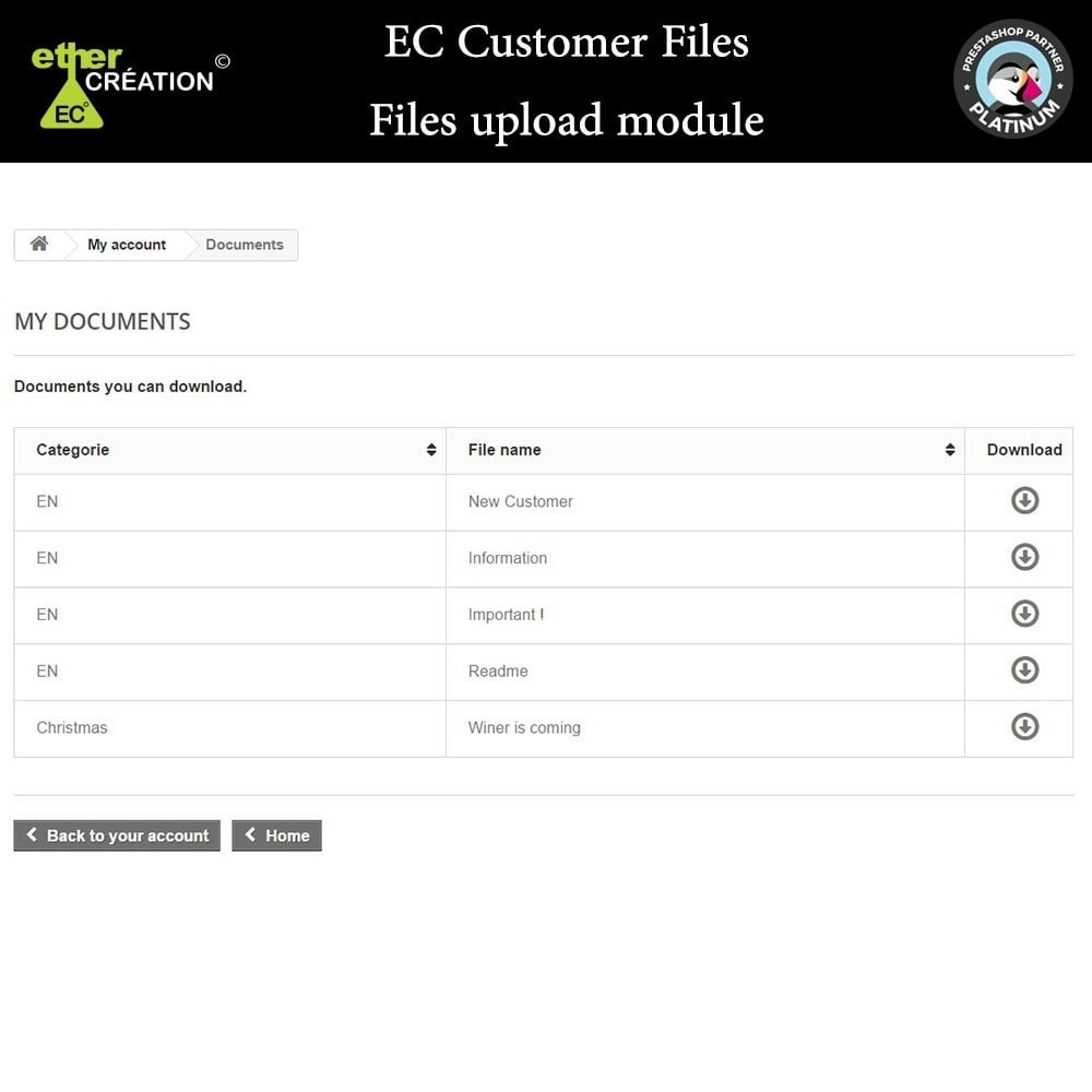 module - Kundenservice - Provision of files for customers - 6