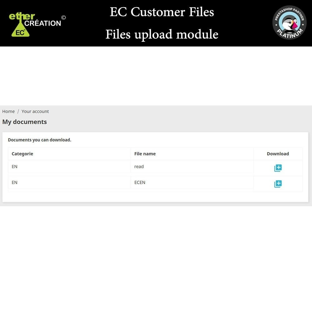 module - Customer Service - Provision of files for customers - 7