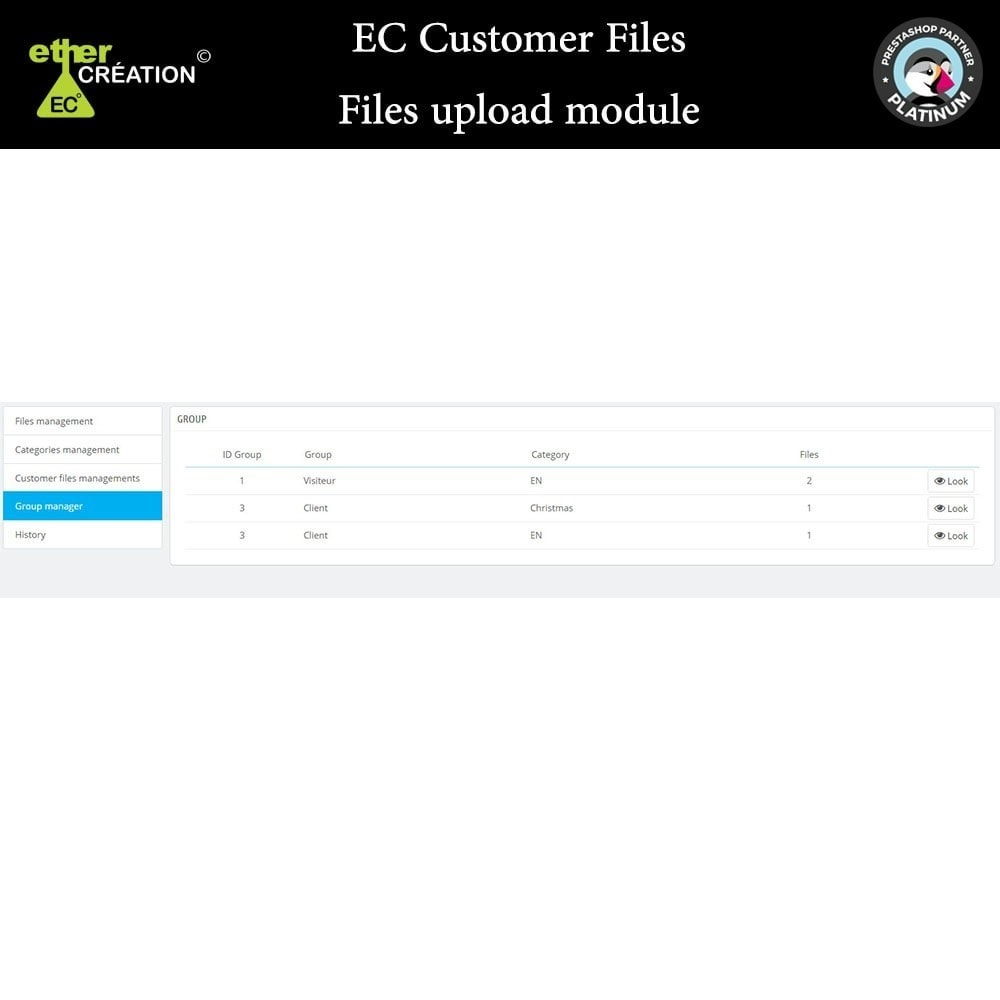 module - Customer Service - Provision of files for customers - 10