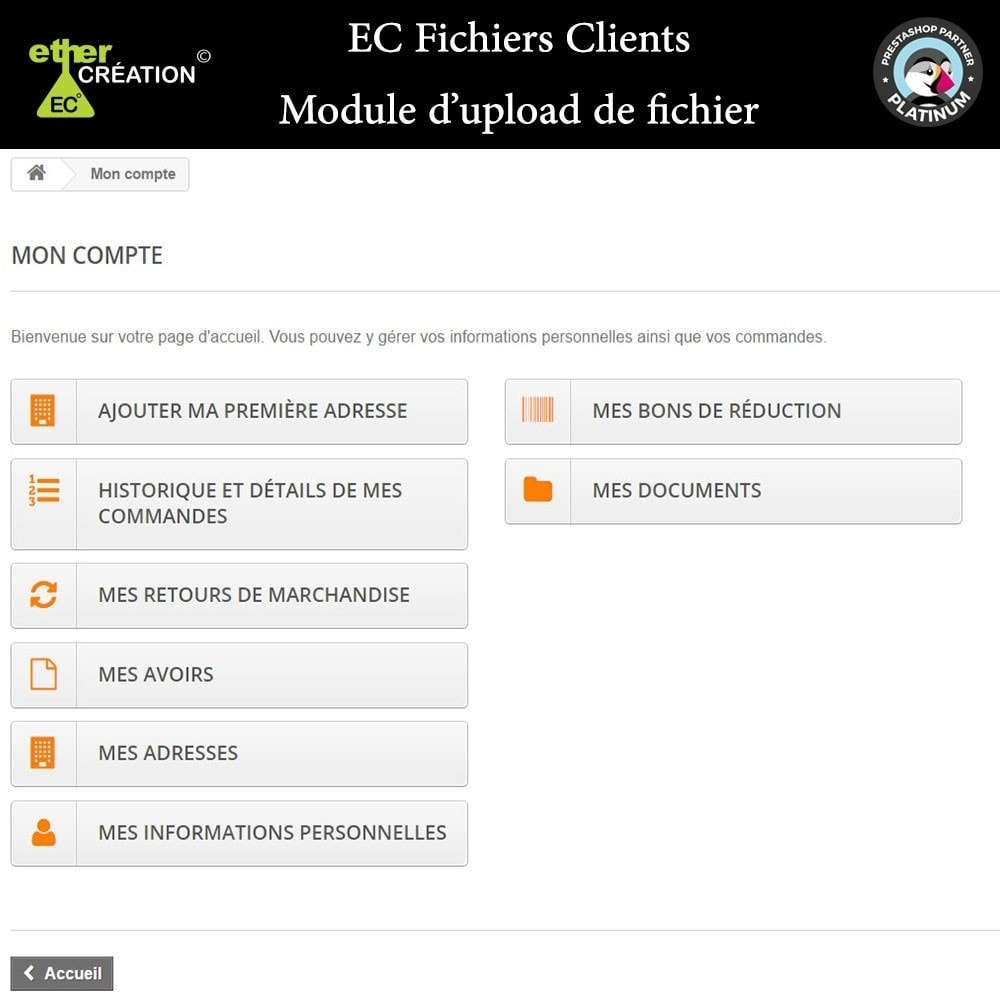module - Service Client - Mise à disposition de fichiers pour les clients - 4