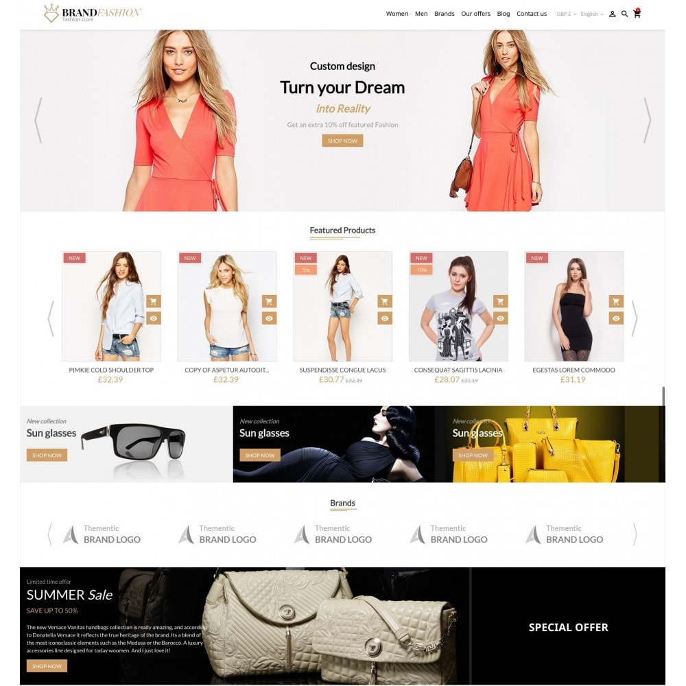 theme - Fashion & Shoes - BrandFashion - 2