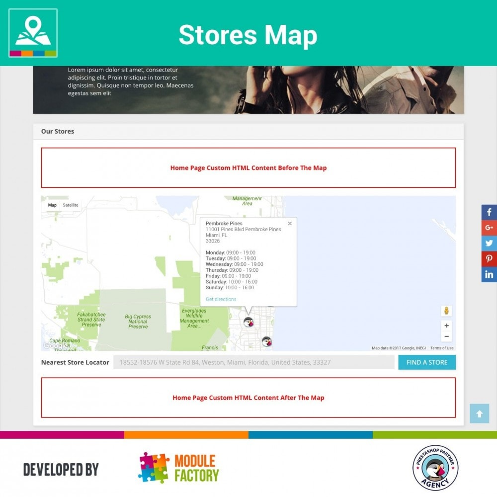 module - Internationalisierung & Lokalisierung - Stores Map on Home Page + Custom Page - 1