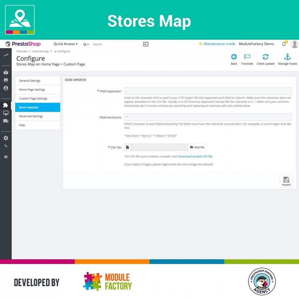 module - International & Localisation - Stores Map on Home Page + Custom Page - 8