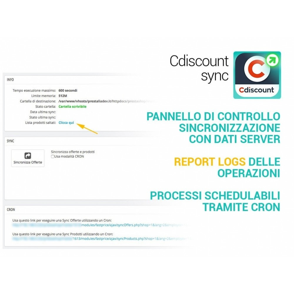 module - Marketplace - Sincronizza PrestaShop con il marketplace di cDiscount - 3