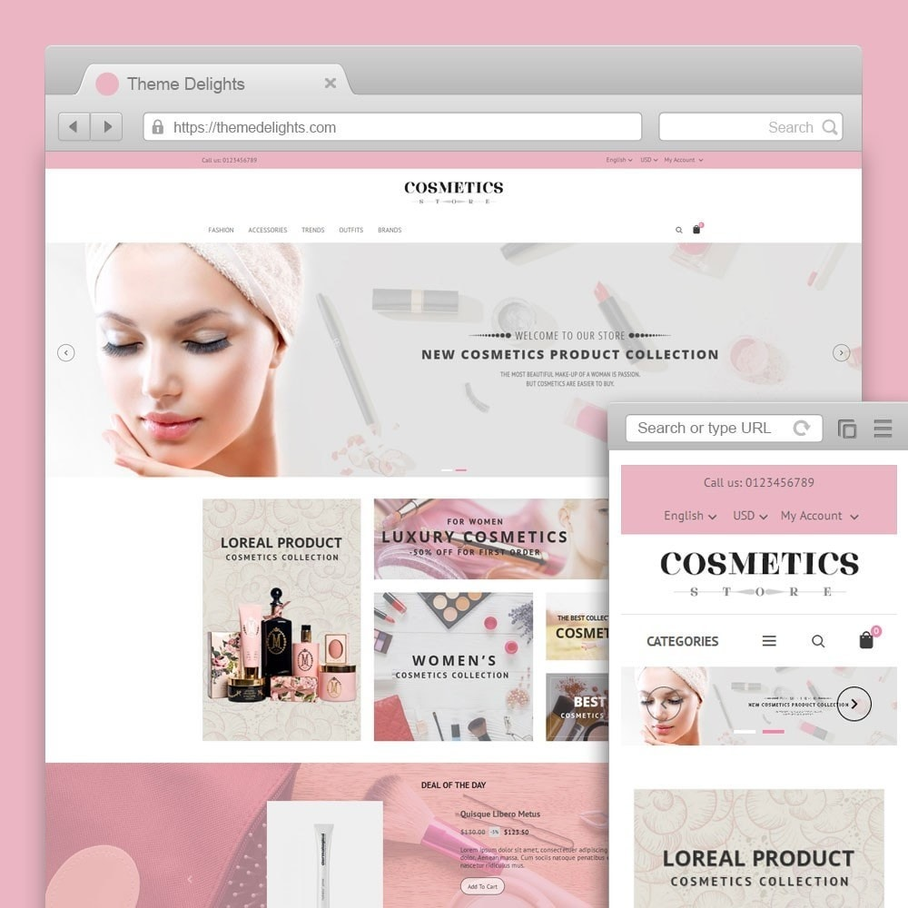 theme - Salute & Bellezza - Cosmetics Store - 1