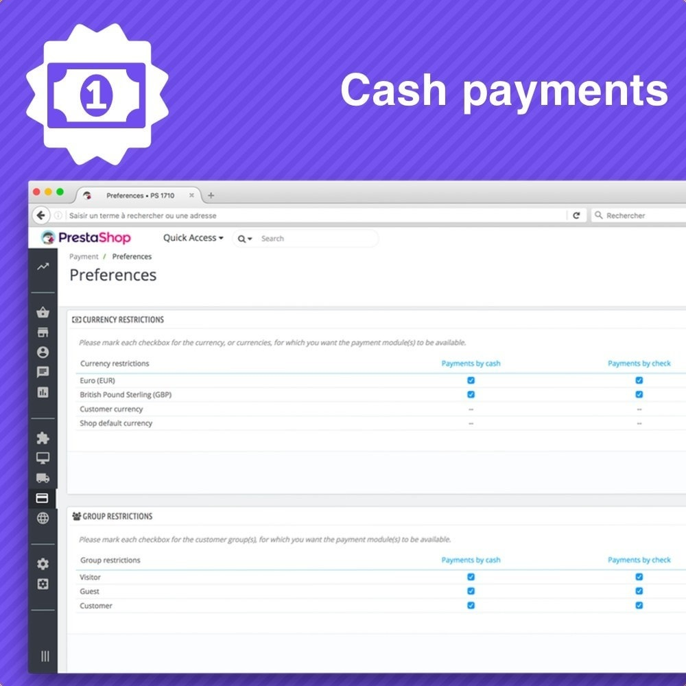 module - Payment in Physical Stores - Cash payment - 3