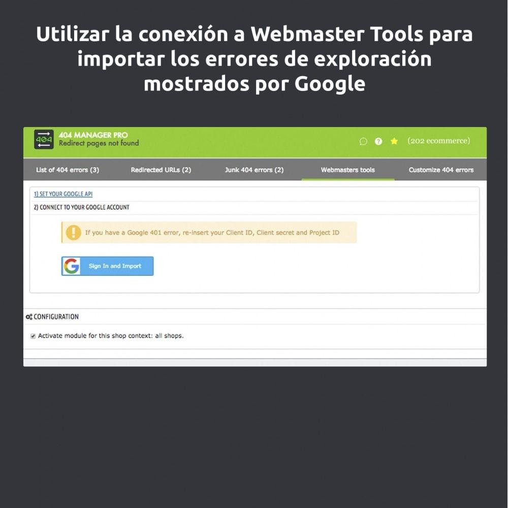 module - URL y Redirecciones - Redirección 404 Manager : Mostrar y redirigir 301,302 - 9