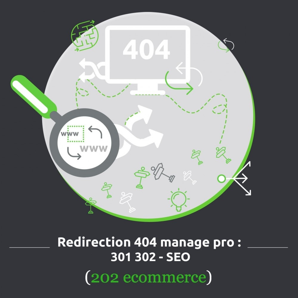module - URL & Redirections - Redirection 404 manager pro: 301 302 - SEO - 1