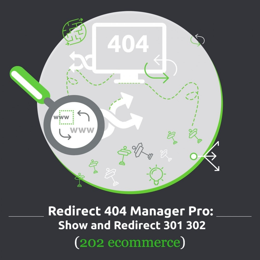 module - URL & Omleidingen - Redirect 404 manager pro: Show and redirect 301 302 - 1
