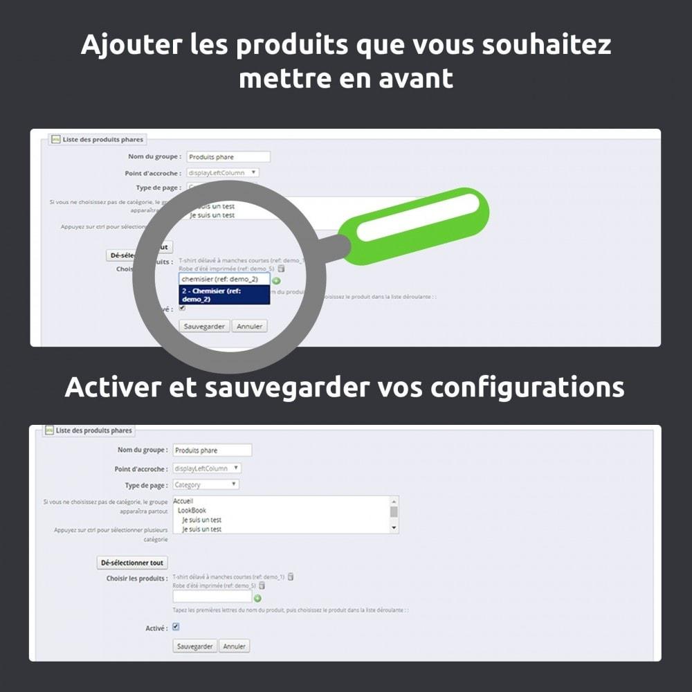 module - Produits en page d'accueil - Mise en avant produit (produit phare) toutes pages - 5