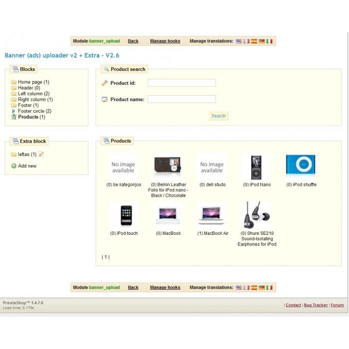 module - Blocos, Guias & Banners - Banner (ads) uploader v2 + Extra - 2