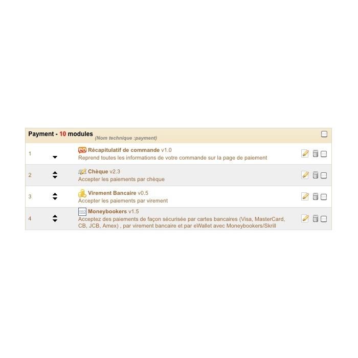 module - Inscription & Processus de commande - récapitulatif de commande - 1