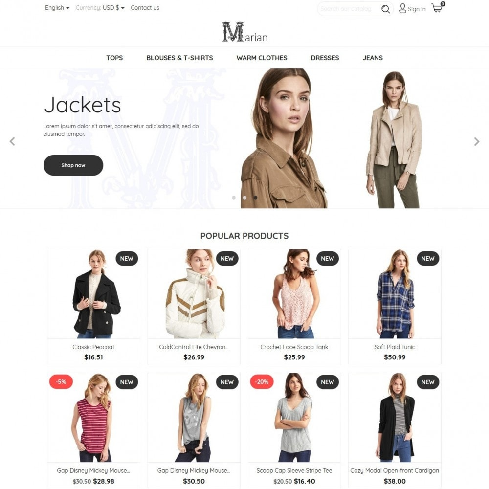 theme - Mode & Schoenen - Marian Fashion Store - 2