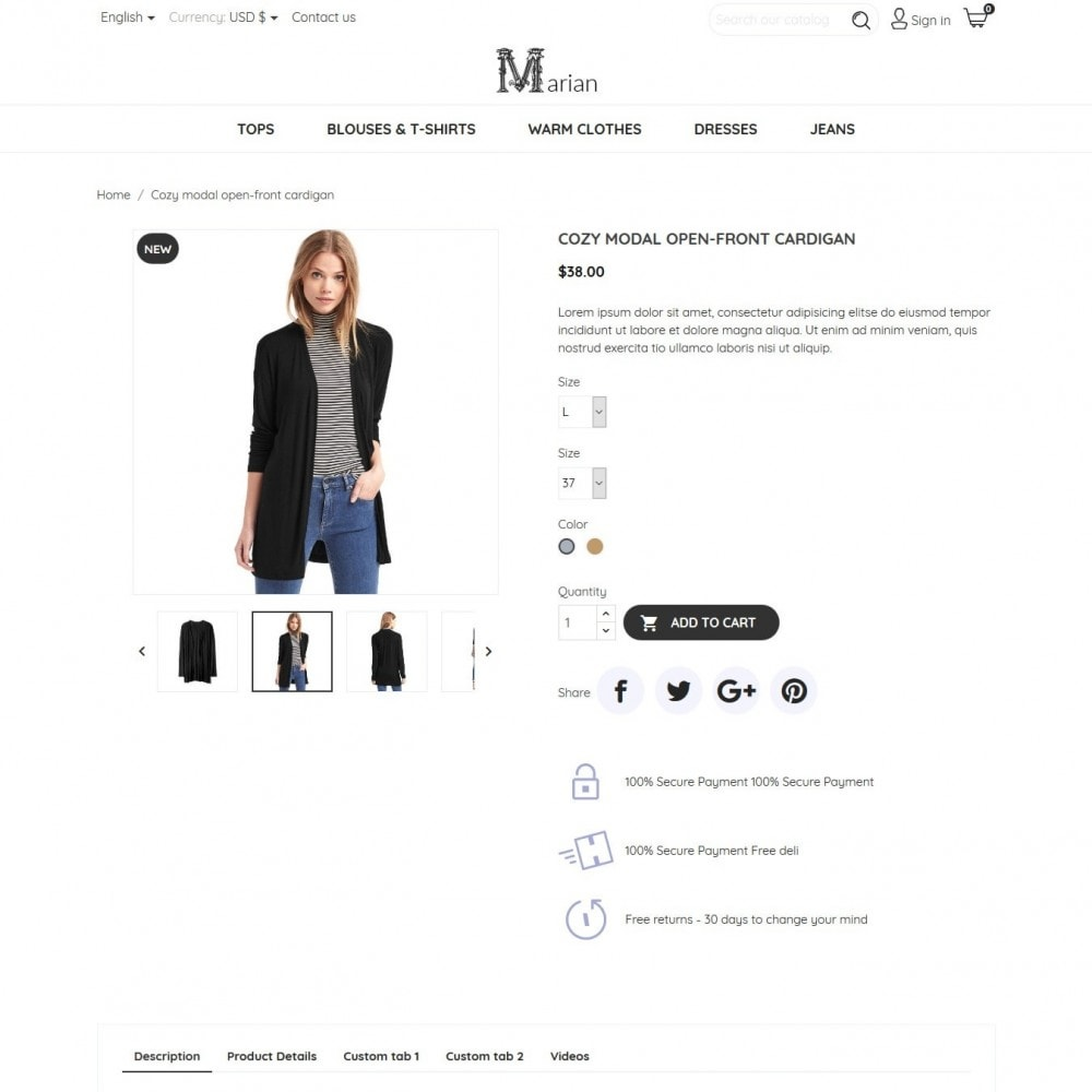 theme - Fashion & Shoes - Marian Fashion Store - 7