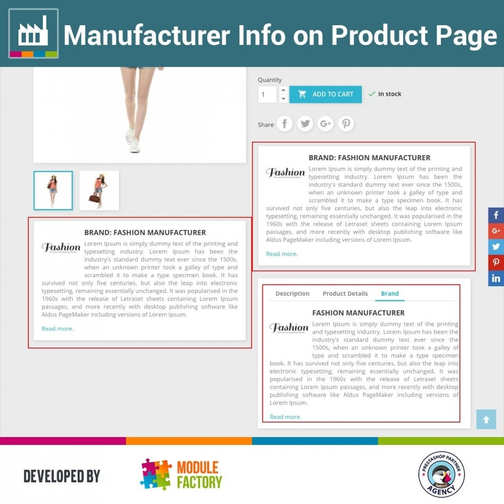 module - Brands & Manufacturers - Manufacturer Info on Product Page - 1