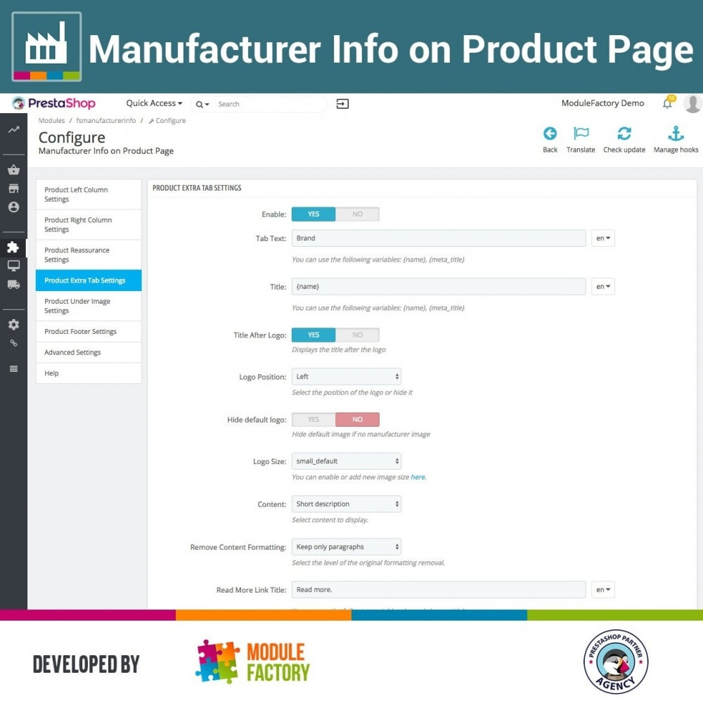 module - Brands & Manufacturers - Manufacturer Info on Product Page - 4