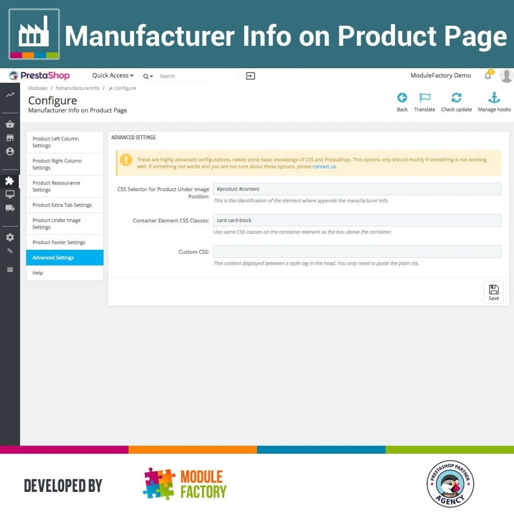 module - Brands & Manufacturers - Manufacturer Info on Product Page - 5