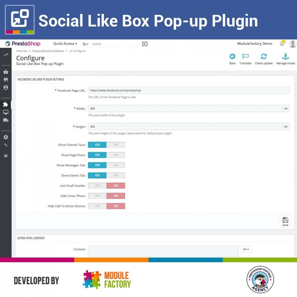 module - Compartir contenidos y Comentarios - Social Like Box Pop-up Plugin - 4