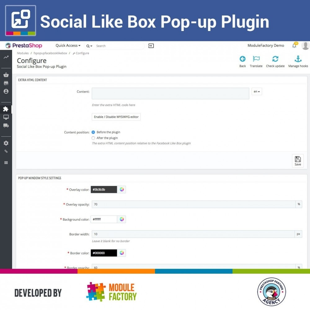 module - Compartir contenidos y Comentarios - Social Like Box Pop-up Plugin - 5