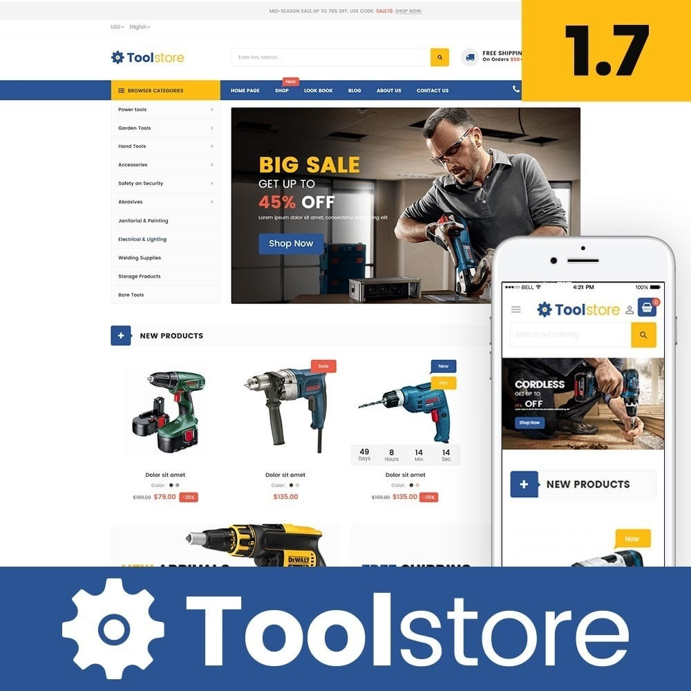 theme - Elettronica & High Tech - Tools Store Classic - 1