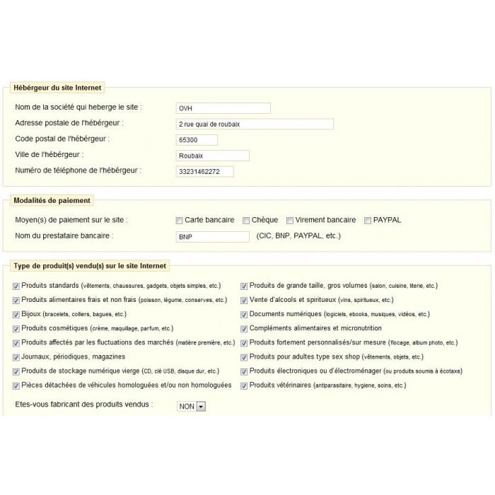 module - Legale (Legge Europea) - CGV EXPERT - 1
