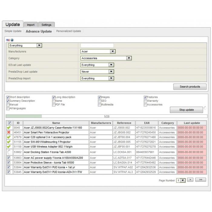 module - Edición Rápida y Masiva - Integración con Icecat (WICECAT PRO) - 5