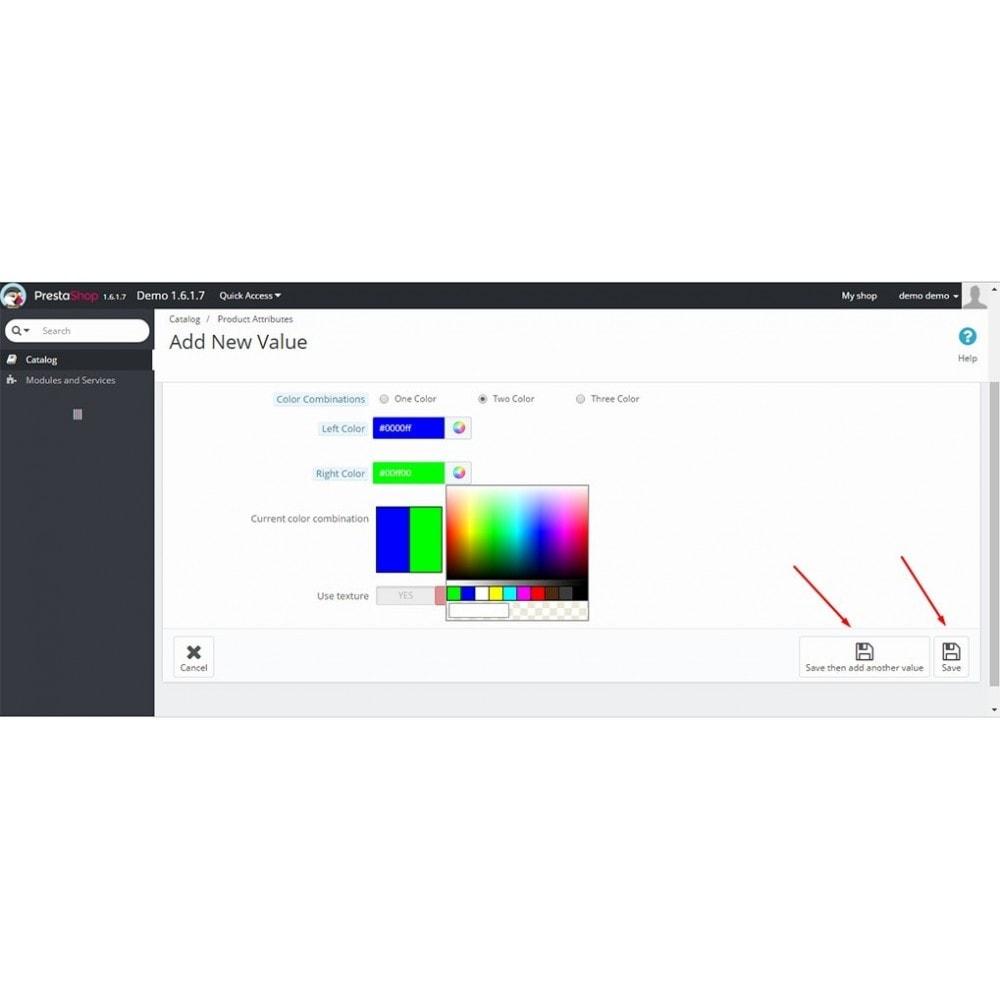 module - Diversificação & Personalização de Produtos - Color Combo - Multiple Color Attrubutes - 6