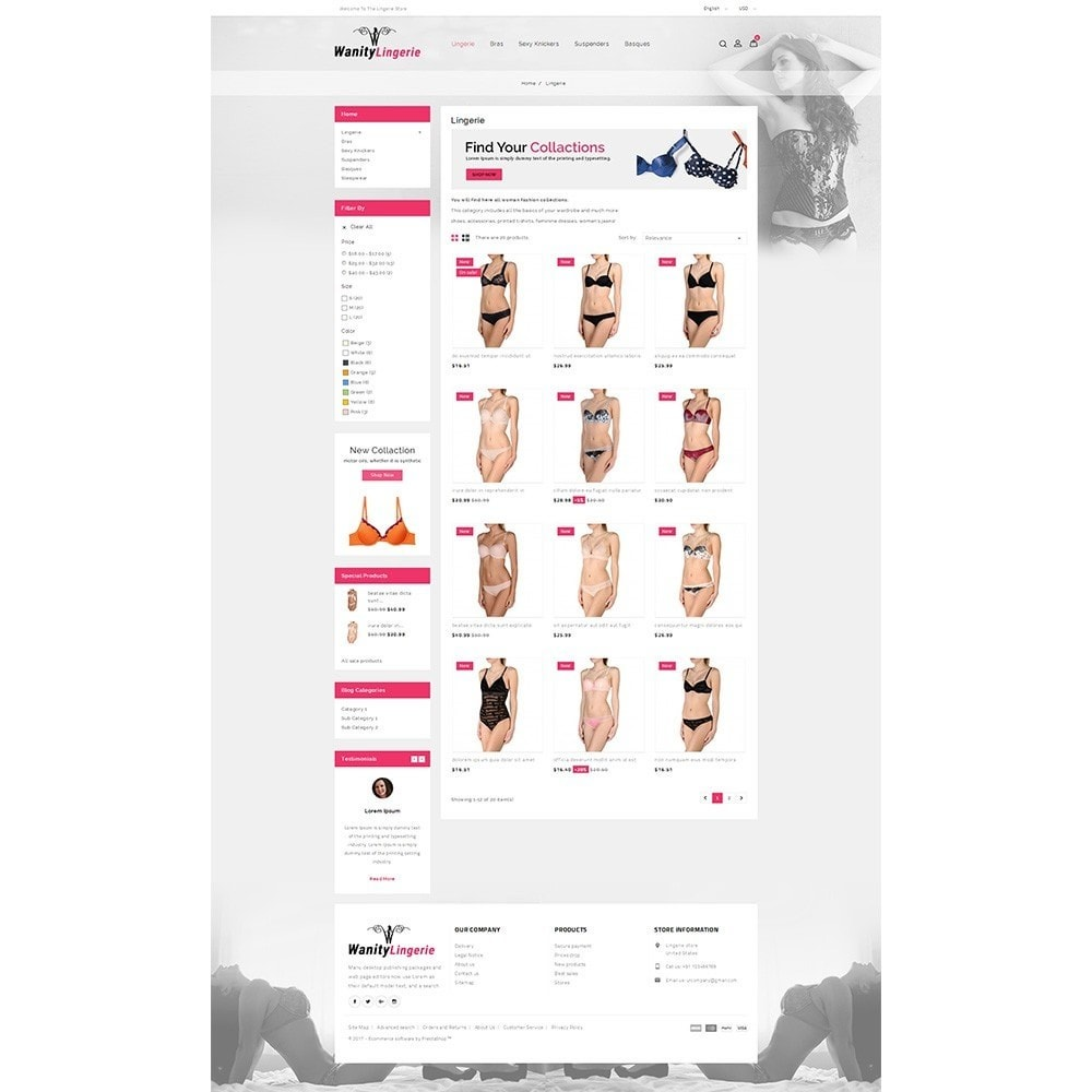 theme - Lingerie & Adultos - Wanity Lingerie Store - 3