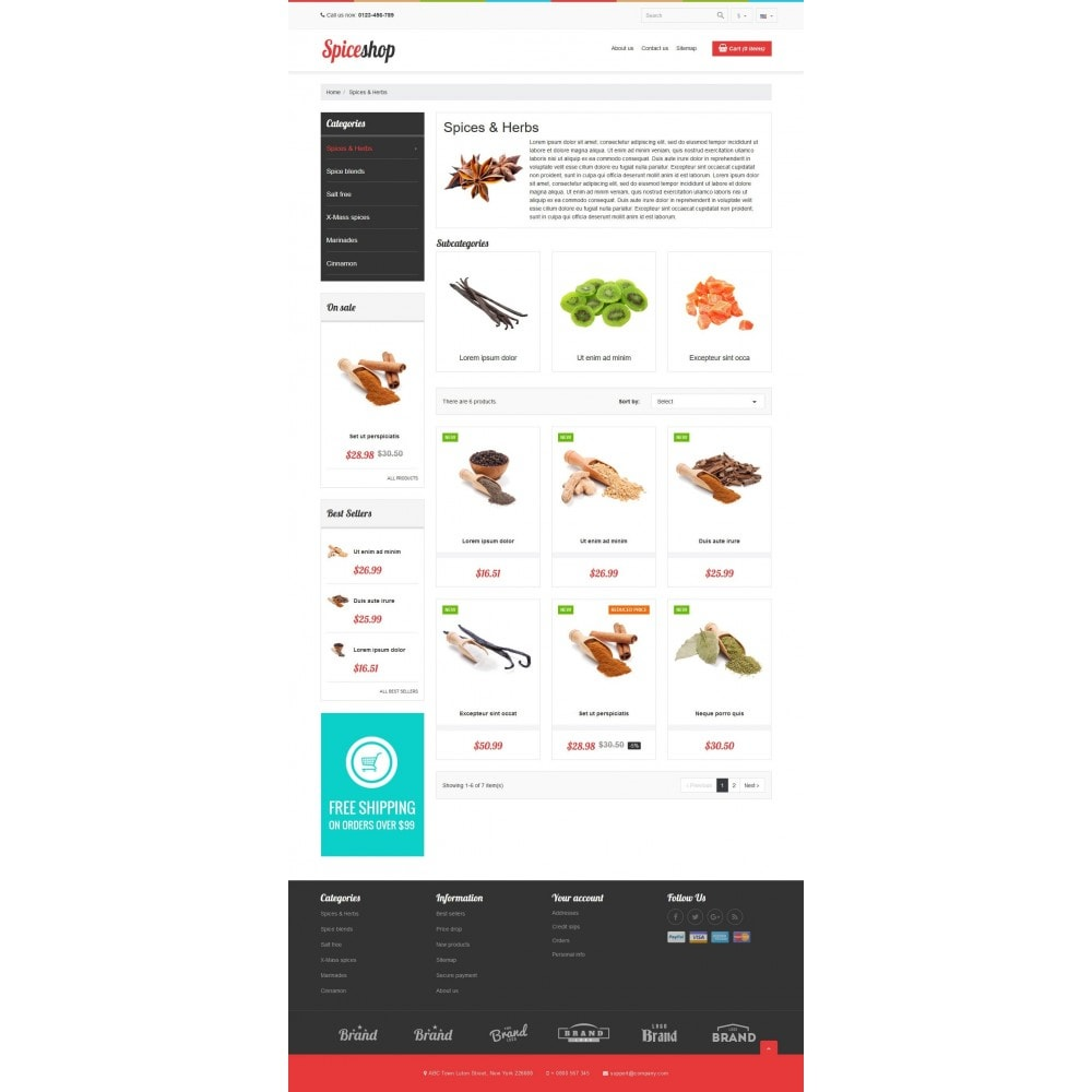 theme - Продовольствие и рестораны - VP_Spices Store - 3