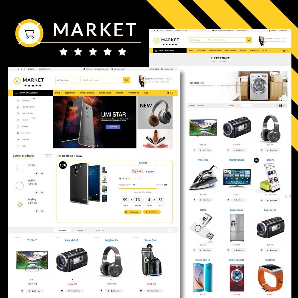 theme - Elektronica & High Tech - Omarket Store - 1