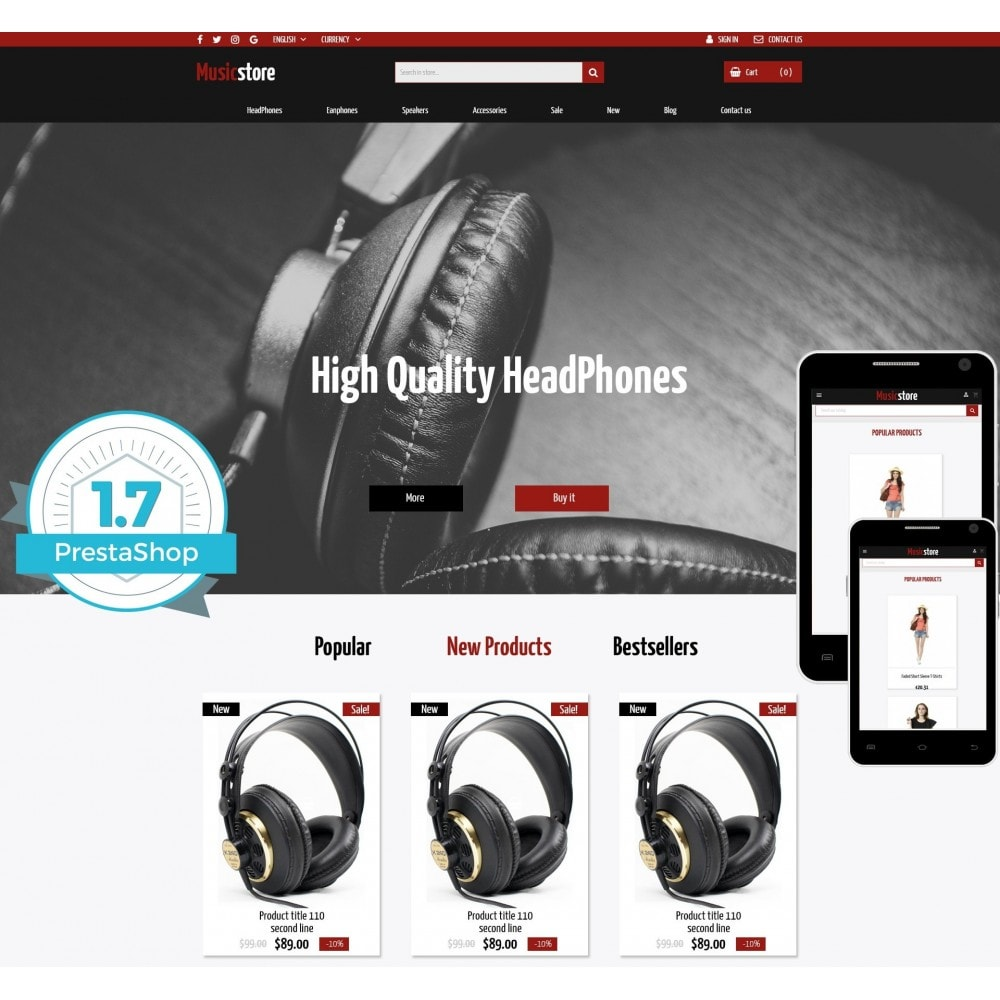 theme - Eletrônicos & High Tech - Music Store - 1