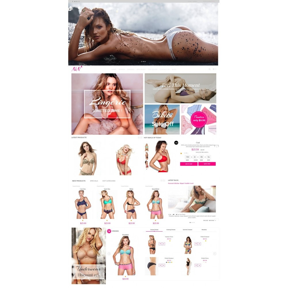 theme - Lingerie & Adulti - Bikini And Lingerie Shop - 2