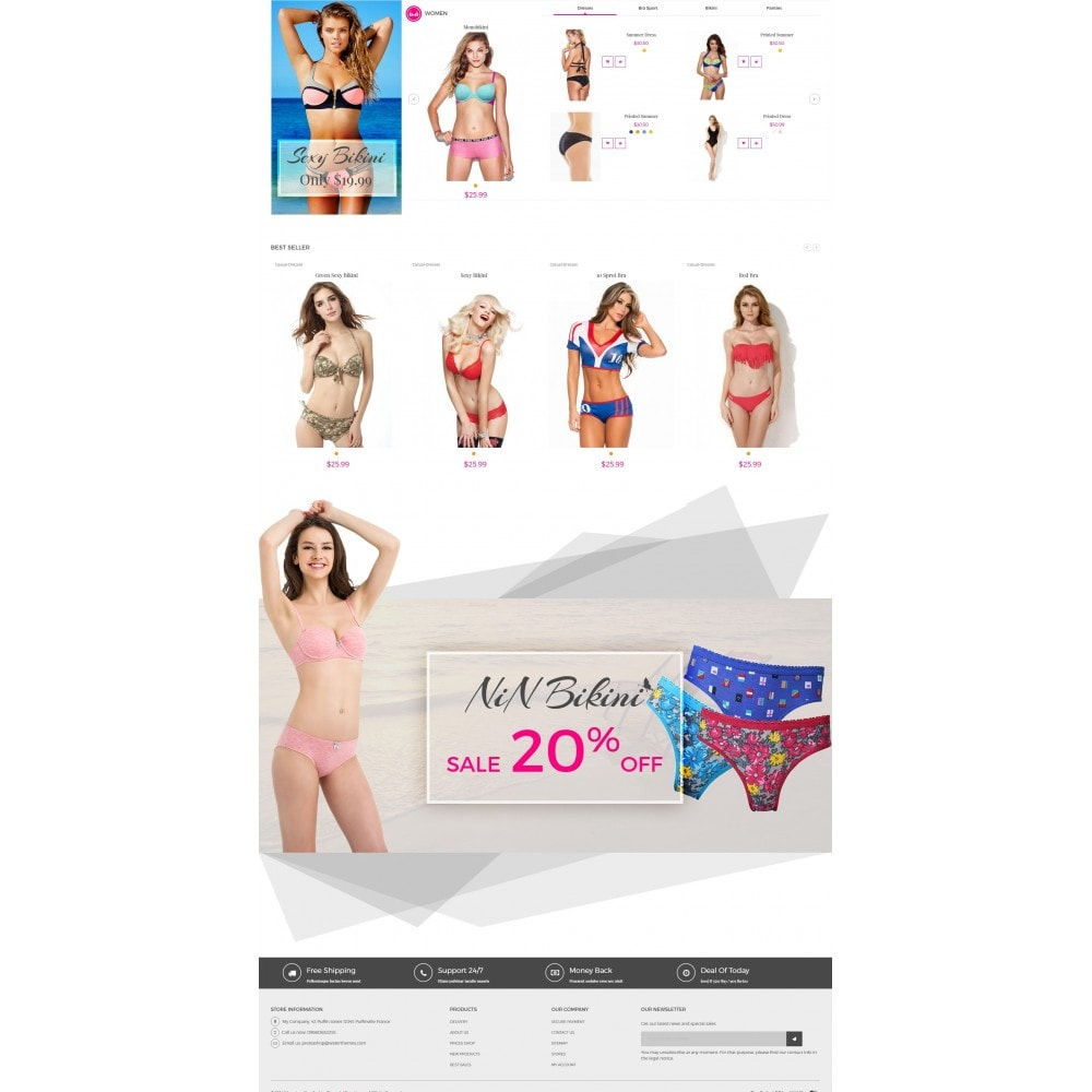 theme - Lingerie & Adulte - Bikini And Lingerie Shop - 3