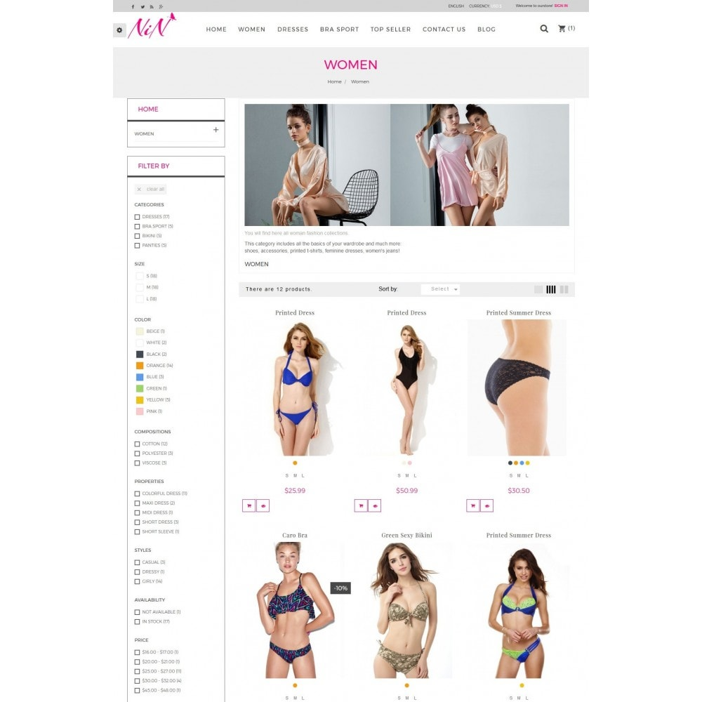 theme - Lingerie & Volwassenen - Bikini And Lingerie Shop - 4
