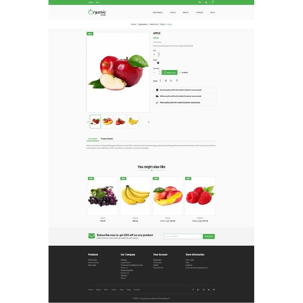theme - Lebensmittel & Restaurants - Organic Food Store - 4
