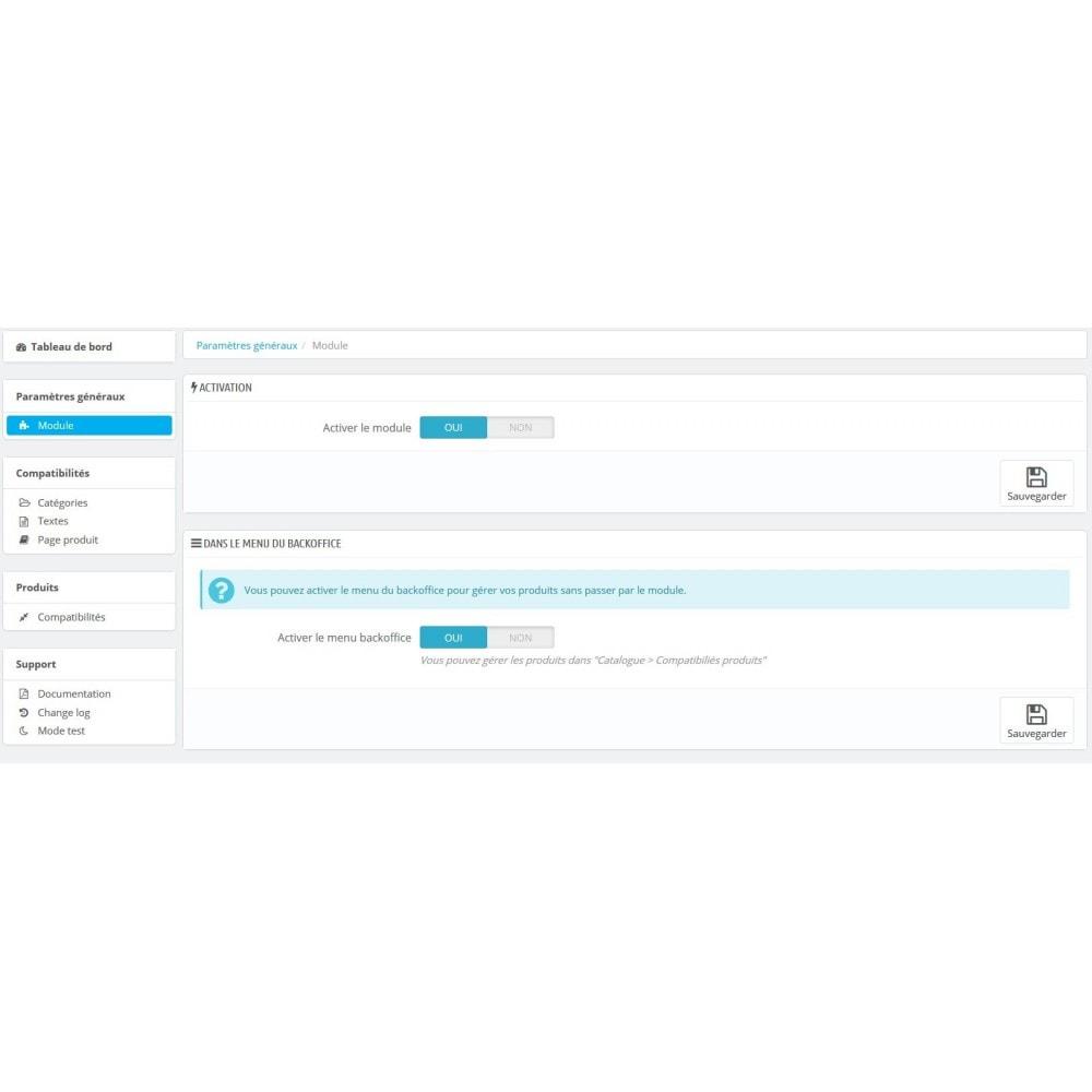 module - Déclinaisons & Personnalisation de produits - Compatibilités Produits - 8