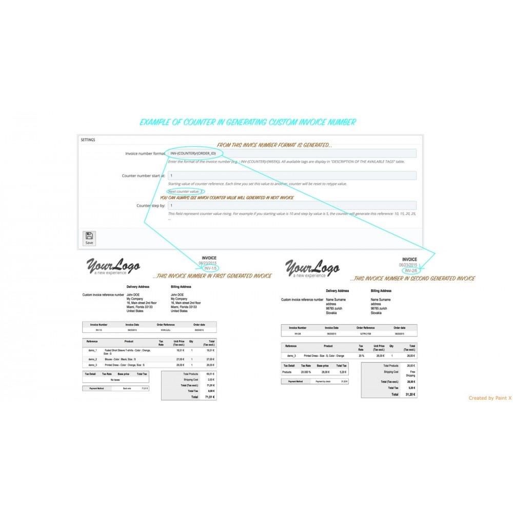 module - Contabilidad y Facturas - Generar, modificar y eliminar los números de facturas - 5