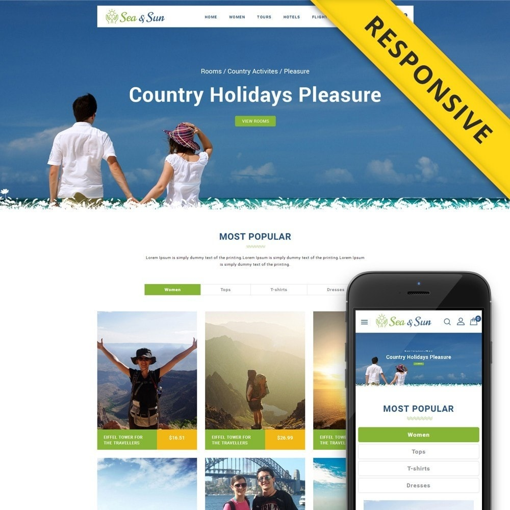 theme - Sports, Activities & Travel - Sea & Sun - Travel Store - 1