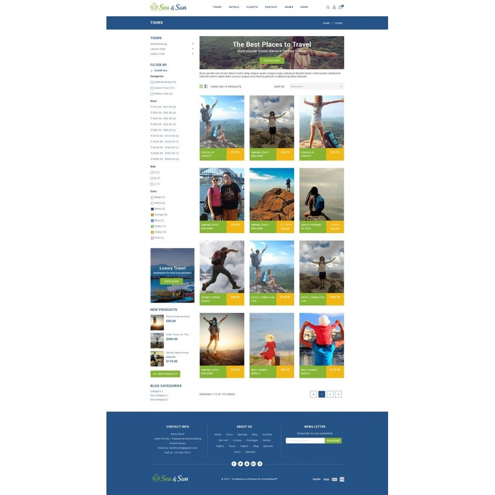 theme - Sports, Activities & Travel - Sea & Sun - Travel Store - 3