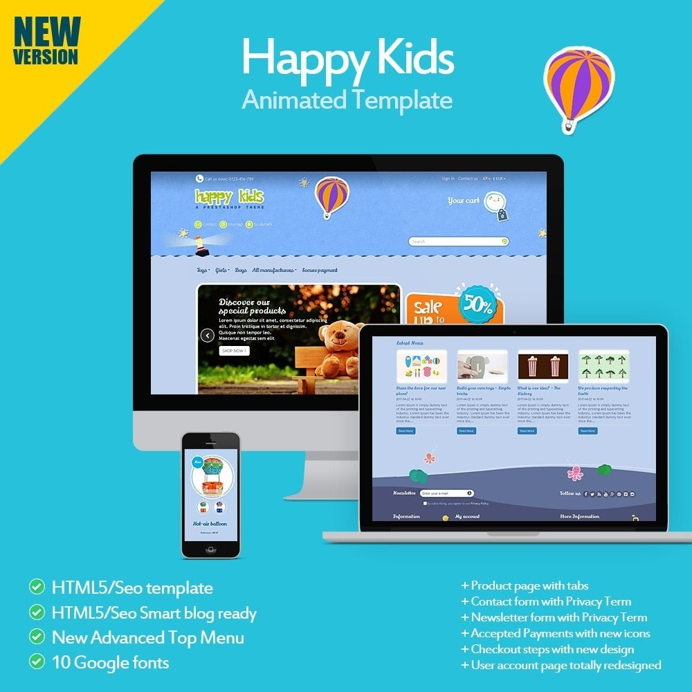 theme - Kids & Toys - Happy Kids - 1