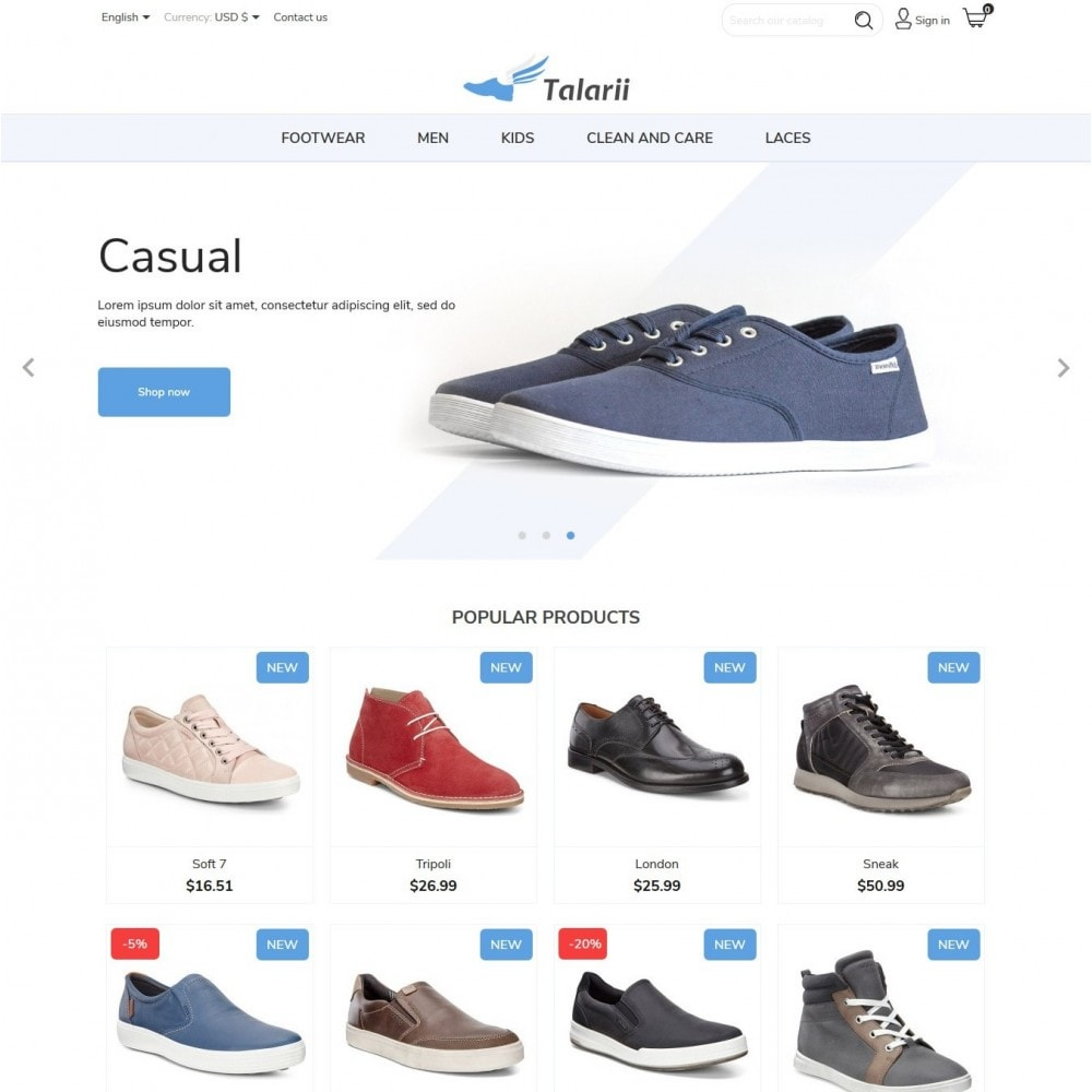theme - Moda & Calzature - Talarii Shop - 2