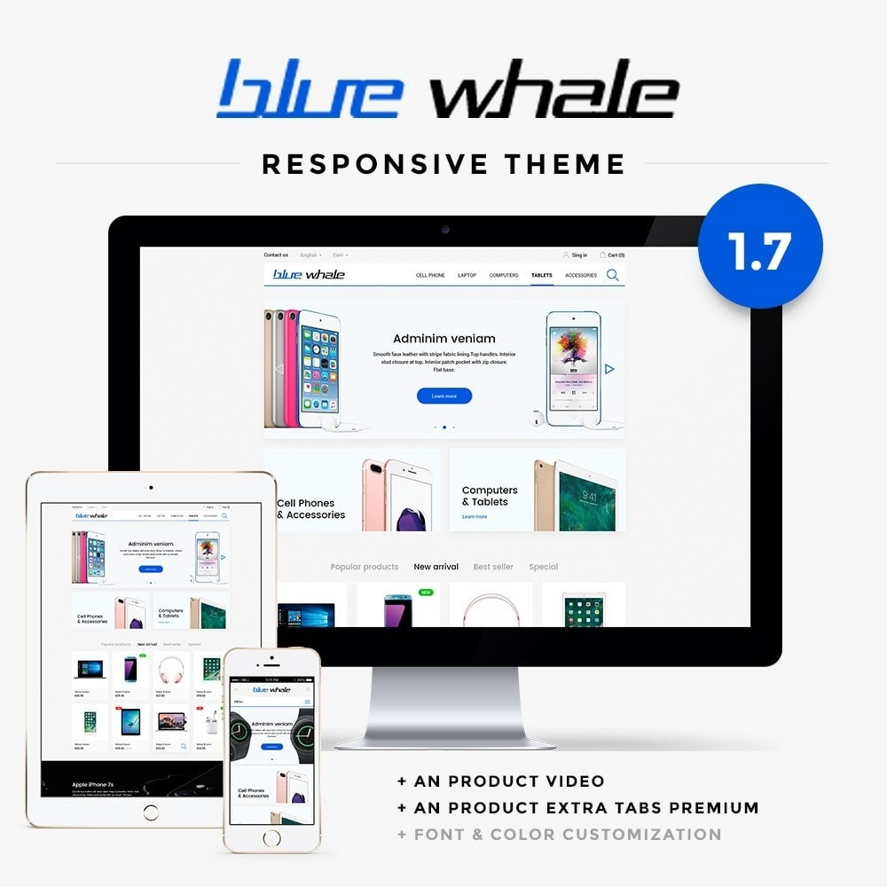 theme - Eletrônicos & High Tech - Blue Whale - High-tech Shop - 1