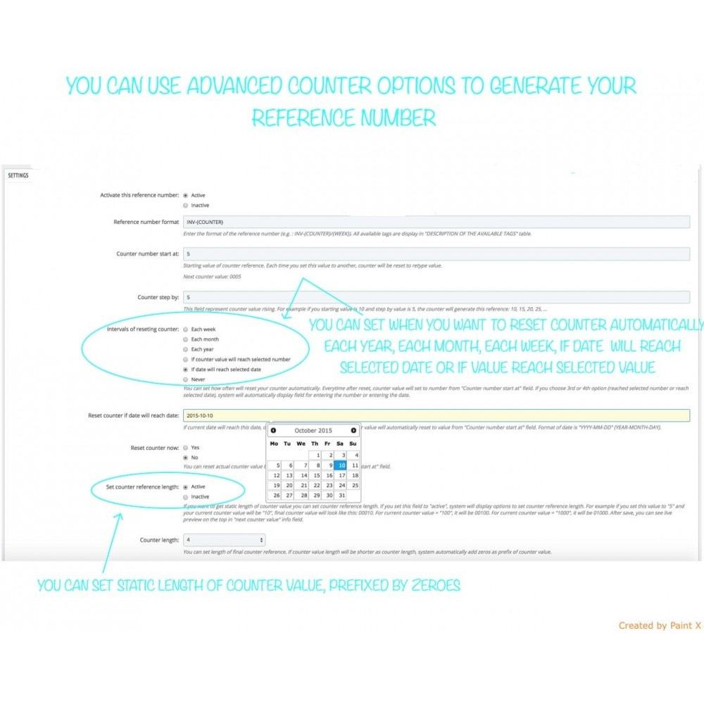 module - Contabilidad y Facturas - Números propios de pedido, factura, albanes y créditos - 4