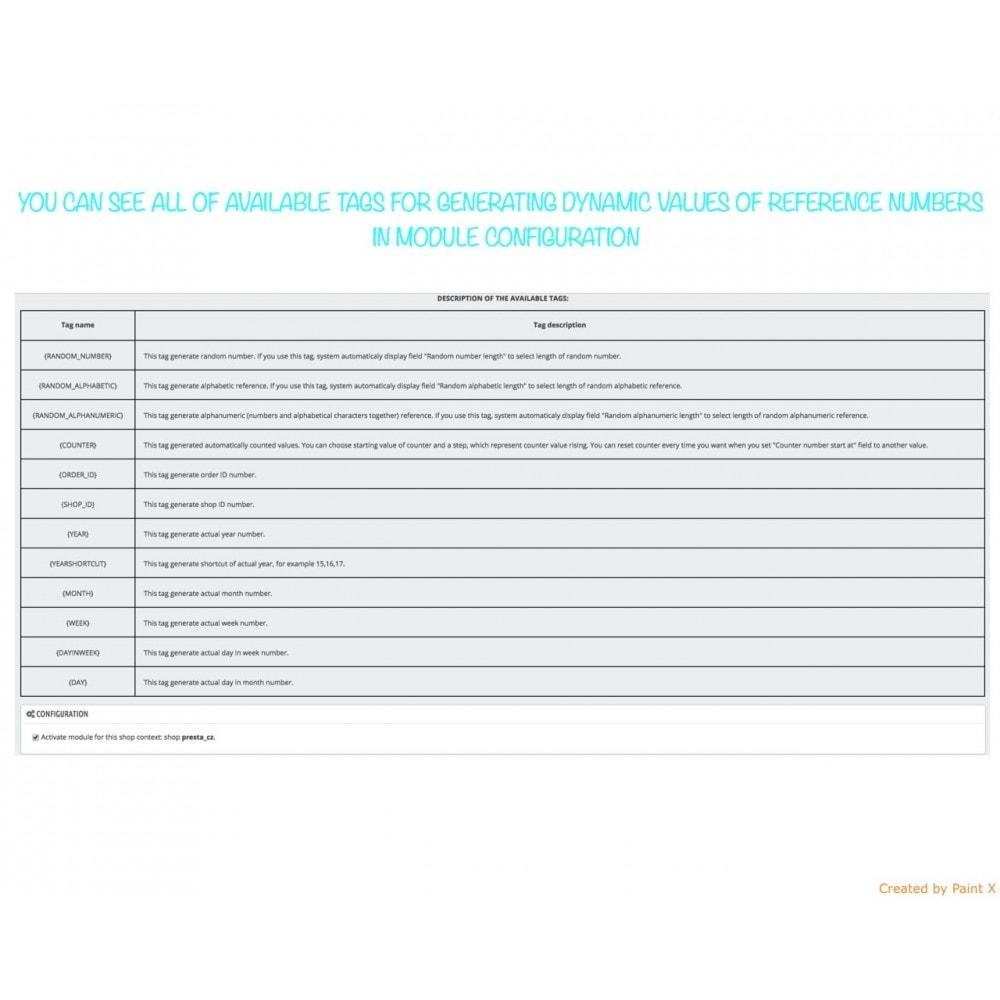 module - Contabilidad y Facturas - Números propios de pedido, factura, albanes y créditos - 5