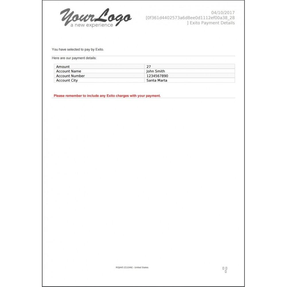 module - Otros métodos de pago - Pago Exito - 11